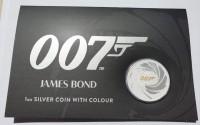 "1 oz Silber Perth Mint "" James Bond 2021 "" in Kapsel + Coincard / Aufsteller - max 20.000 ( diff.besteuert nach §25a UStG )"