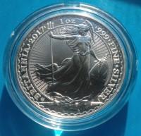"1 oz Silber Britannia "" Trident - 20th Anniversary  "" in Kapsel  ( diff.besteuert nach §25a UStG )"