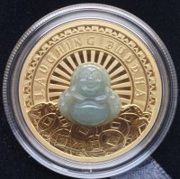 1 oz Proof Gold mit Jade Laughing Buddha inkl. Box / COA Perth Mint - max 288 Stk