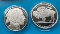 5 oz Silber USA Buffalo ( 19% Mwst )