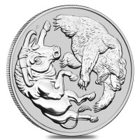 "1 oz Silber Australian "" Bull & Bear "" 2020 in Kapsel - max 25.000 Stk ( diff.besteuert nach §25a UStG )"