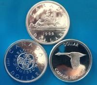 "0,6 oz Silber - 1 Canada Silber Dollar  "" mixed years  ""  ( diff.besteuert nach §25a UStG )"