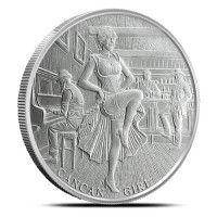 1 oz Silber Can Can Girl 2020 ( 19% Mwst )