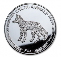 "1 oz Silber Chad 2019 Celtic Animals Series "" Fox - max. Mintage 5.000 ( diff.besteuert nach §25a UStG )"