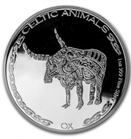 "1 oz Silber Chad 2020 Celtic Animals Series "" Ox - max. Mintage 5.000 ( diff.besteuert nach §25a UStG )"