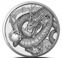 "1 oz Silber "" Chinese Dragon "" - Serie World of Dragons 3te Ausgabe ( 19% Mwst )"