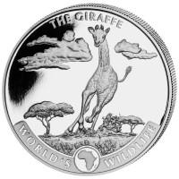1 oz Silber Congo Giraffe 2019 - max 30.000 ( diff.besteuert nach §25a UStG )