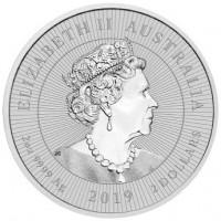 2 oz Silber Perth Mint Piedfort Crocodile 2019 ' Next Generation Series - max. 75.000 '  ( diff.besteuert nach §25a UStG )