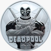 "1 oz Silber Perth Mint "" Deadpool - Marvel Comics "" in Kapsel ( diff.besteuert nach §25a UStG )"