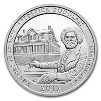 "5 oz Silber USA "" America the beautiful "" District of Columbia "" Frederick Douglass ( diff.besteuert nach §25a UStG )"