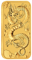 "1 oz Gold Perth Mint "" Dragon "" Gold Coin Bar 2019"