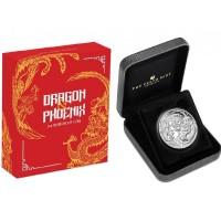 "1 oz Silber Perth Mint "" Dragon & Phoenix Proof Coin "" in Box / COA  ( diff.besteuert nach §25a UStG )"