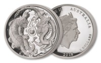 2 oz Silber High Relief Proof Australien Perth Mint Dragon & Tiger - max. 1.500 Stk ( diff.besteuert nach §25a UStG )
