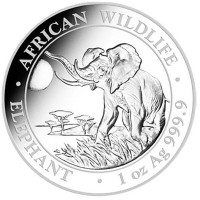 1 oz Silber Somalia Elefant 2016 ( diff.besteuert nach §25a UStG )