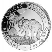 1 oz Silber Somalia Elefant 2017 ( diff.besteuert nach §25a UStG )