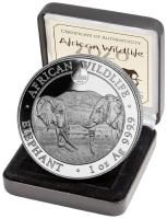 "1 oz Silber Somalia Elefant "" Berlin 2020 "" inkl. COA / BOX ( diff.besteuert nach §25a UStG )"