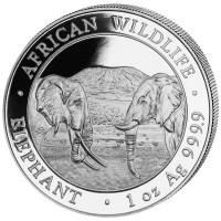 1 oz Silber Somalia Elefant 2020 ( diff.besteuert nach §25a UStG )