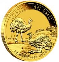 "1 oz Gold "" Emu 2020 "" Perth Mint in Kapsel"