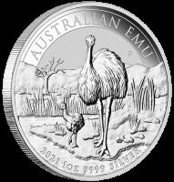 """1 oz Silber Perth Mint """" Emu 2021 """" in Kapsel - max Mintage 30.000 ( diff.besteuert nach §25a UStG )"""