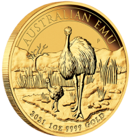 "1 oz Gold "" Emu 2021 "" Perth Mint in Kapsel"