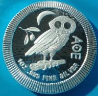 """1 oz Silber Stacker New Zealand Mint """" Eule von Athen """" - 2020 ( diff.besteuert nach §25a UStG )"""