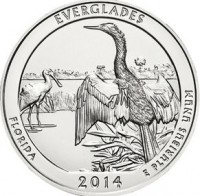 "5 oz Silber USA "" America the beautiful "" Florida - Everglades "" ( diff.besteuert nach §25a UStG )"