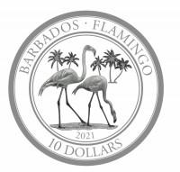 "1 oz Platin Barbados "" Flamingo 2021 "" in Kapsel / BOX / COA - max 100 Mintage LZ: ca Ende 08 ( inkl. gesetzl. Mwst )"