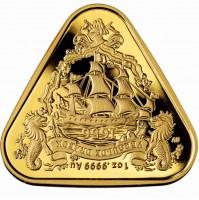 """1 oz Gold Australien """" Australian Shipwreck Series - Gilt Dragon """" in Kapsel / Box 2019 - max. 250 Stk"""