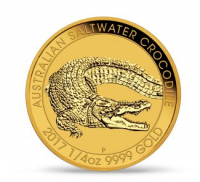 "1/4 oz Gold Perth Mint "" Saltwater Crocodile 2017 "" in Kapsel"