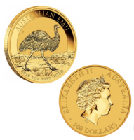 "1 oz Gold "" Emu "" Perth Mint 2018 in Kapsel"