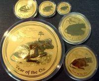 1 oz Gold Lunar II Ochse in Kapsel