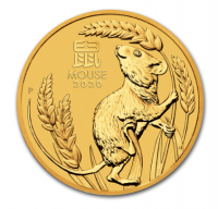 "1/10 oz Gold Perth Mint "" Lunar Maus III 2020 "" in Kapsel"