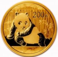 1/2 oz Gold China Panda in Folie ( div. Jahrgang )