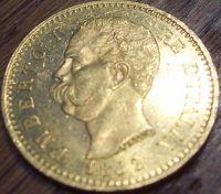 20 Lire Gold Italien div. Jahre ( 5,81 Gramm Gold fein )