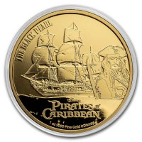 1 oz Gold Pirates of the Caribbean / Black Pearl in Kapsel - max. Auflage 250