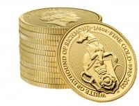 "1/4 oz Gold Royal Mint / United Kingdom "" White Greyhound of Richmond  """