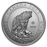 1,5 oz Silber Canada Grizzly 2017 ( diff.besteuert nach §25a UStG )