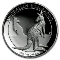 1 oz Silber Kangaroo High Relief 2016 Perth Mint ( diff.besteuert nach §25a UStG )