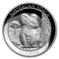 1 oz Silber High Relief Koala 2017 Perth Mint ( diff.besteuert nach §25a UStG )