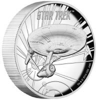 1 oz Silber High Relief Startrek - Enterprise Perth Mint ( diff.besteuert nach §25a UStG )