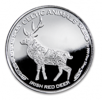 "1 oz Silber Chad 2019 Celtic Animals Series "" Irish Red Deer - max. Mintage 5.000 ( diff.besteuert nach §25a UStG )"