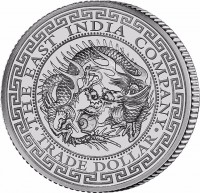 "1 oz Silber "" Japanese Trade Dollar "" St. Helena geprägt bei East India Company - max 5.000 ( diff.besteuert nach §25a UStG )"