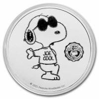 1 oz Silber 2021 Peanuts Series Snoopy / 50 years alter ego Joe Cool inkl. Kapsel - max. 5.000 ( inkl. gültiger gesetzl. Mwst )