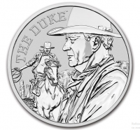 1 oz Silber Perth Mint John Wayne / The Duke in Kapsel - max. Auflage 15.000 ( diff.besteuert nach §25a UStG )