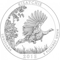 "5 oz Silber USA "" America the beautiful "" Louisiana - Kisatchie National Forest ""  ( diff.besteuert nach §25a UStG )"