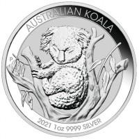 1 oz Silber Australien Koala 2021 Perth Mint ( diff.besteuert nach §25a UStG )