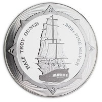 """1/2 oz Silber New Zealand Mint """" Sailing Ship """" ( diff.besteuert nach §25a UStG )"""
