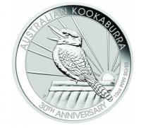 10 oz Silber Kookaburra 2020 in Kapsel - Jubiläumsausgabe( diff.besteuert nach §25a UStG )