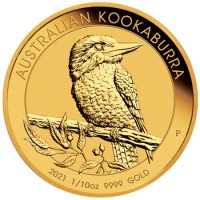 "20 X 1/10 oz Gold Perth Mint "" Kookaburra 2021 "" in Kapsel - max. 15.000"