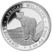 1 oz Silber Somalia Leopard - max 30.000 ( diff.besteuert nach §25a UStG )